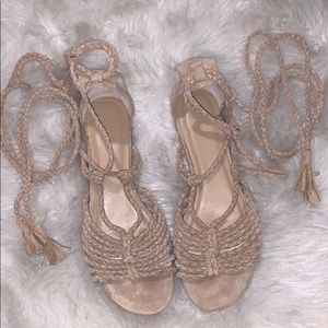 Tan sandals from Joie